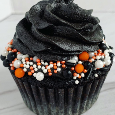 Black Cocoa Cake with Black Cocoa Buttercream